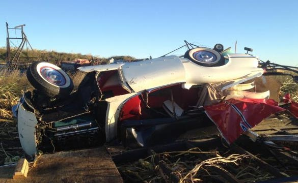 [PIC] Iowa Twister Tosses a Classic Corvette a Quarter Mile from its Home