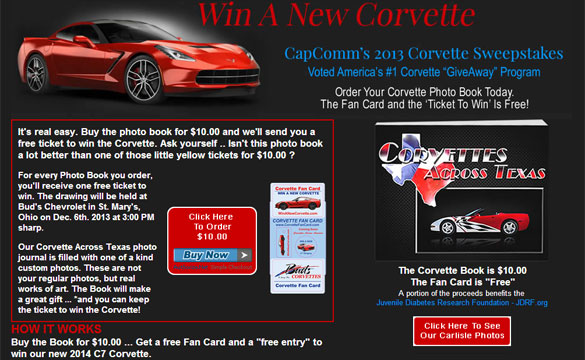 Win a New 2014 Corvette Stingray!