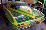 Corvettes on eBay: Psychedelic Painted 1965 Corvette Coupe