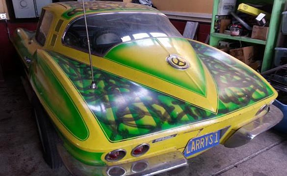 Corvettes on eBay: Psychedelic Themed 1965 Corvette Coupe