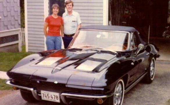 Ben and Sandy with their 1963 Corvette convertible