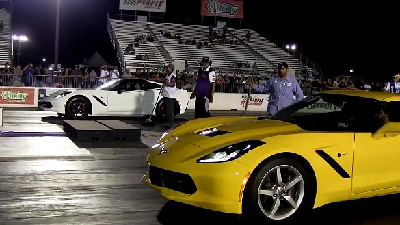 [VIDEO] Two C7 Corvette Stingrays at the Drag Strip