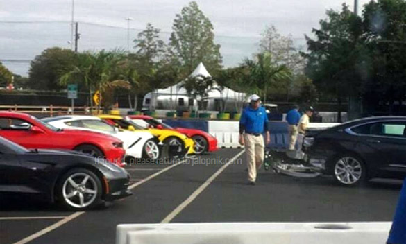 Someone Crashed a New Impala into these Corvette Stingrays at Texas State Fair