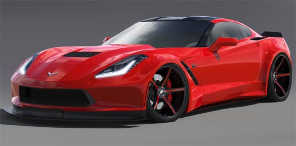 Forgiato Wheels Building Widebody C7 Corvette Stingray for SEMA