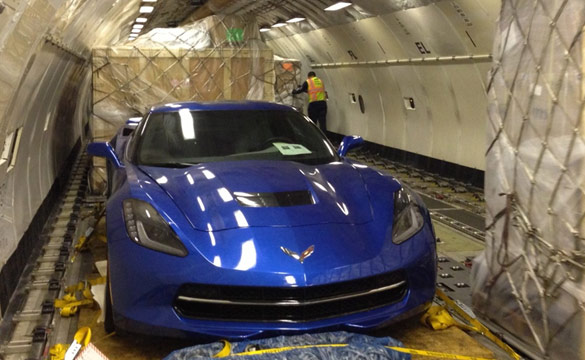 [VIDEO] Europe-Bound 2014 Corvette Stingray Loaded onto a Jet Airline