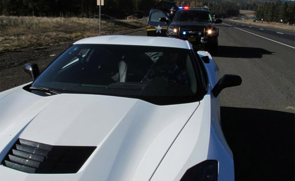 [PIC] Is This The First C7 Corvette Stingray's Encounter with Law Enforcement?