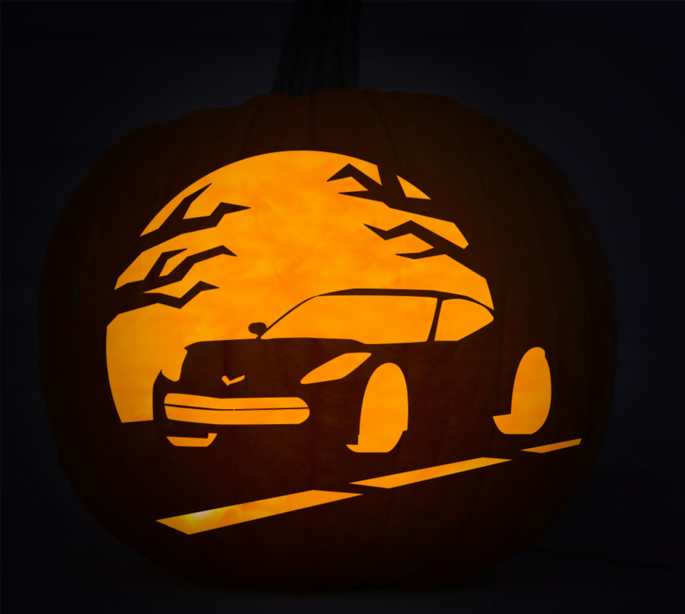 Make Yourself a Stingray-o-Lantern with Chevrolet\'s Pumpkin Stencils ...