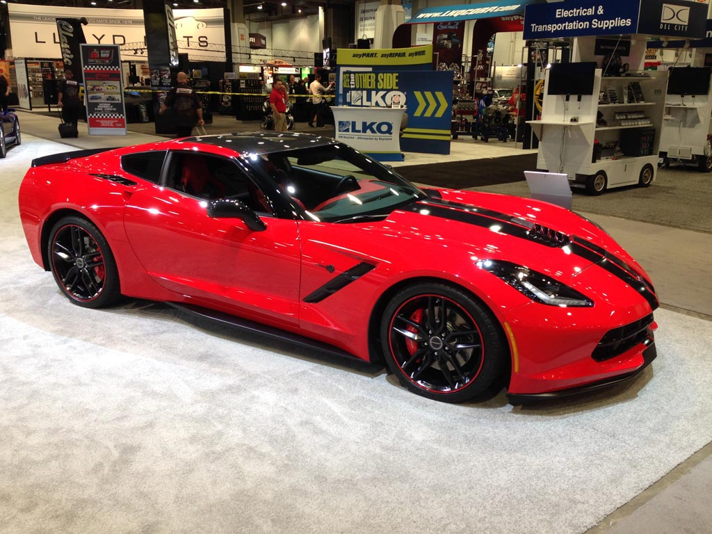 video sema 2013 the corvette stingray pacific concept. Black Bedroom Furniture Sets. Home Design Ideas