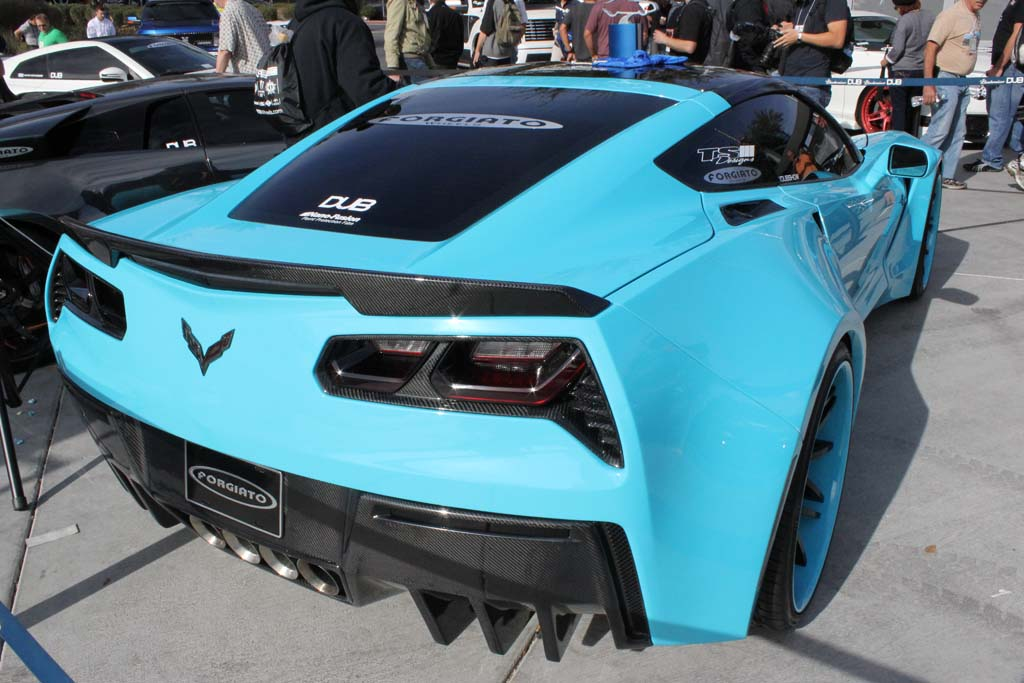 forgiato widebody c7 corvette stingray - Corvette Stingray Light Blue