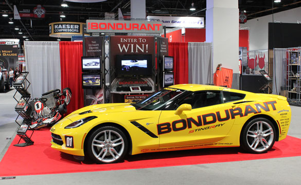 2014 Corvette Stingray at the Bondurant Display
