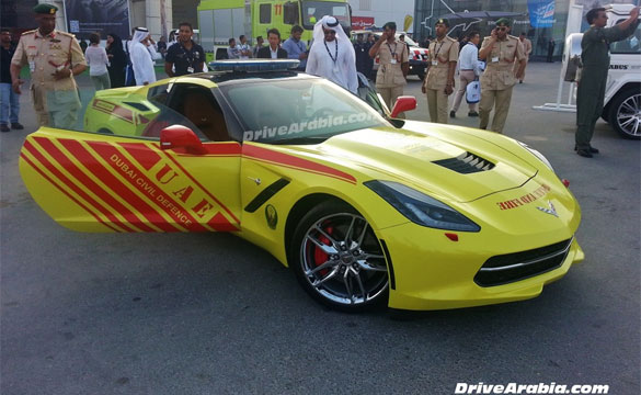 2014 Corvette Stingray Joins Dubai's Civil Defense Brigade