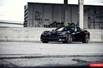 Vossen's Precision Series Wheels on a Black C7 Corvette Stingray