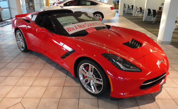 Enter to Win this New 2014 Corvette Stingray for just $10!