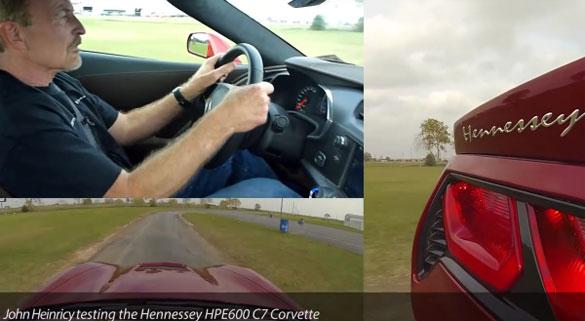 [VIDEO] John Heinricy Drives the Hennessey HPE600 Corvette Stingray