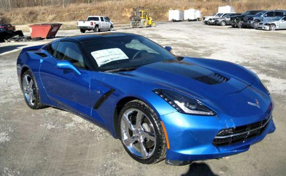 Corvette Stingray Premiere Edition that Crashed Through Dealers Window Offered at a Discount