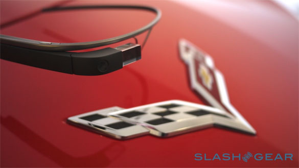 Chevrolet Shows Off Google Glass App for the C7 Corvette Stingray at CES
