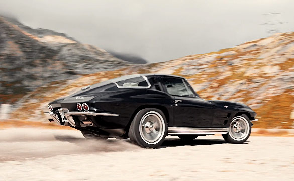 [VIDEO] Advantage Features 1964 Corvette Sting Ray Racing Up a Swiss Mountain Pass