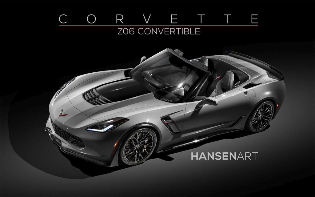 pic hansen art imagines the 2015 corvette z06 as a convertible - Corvette 2015 Z06 Black