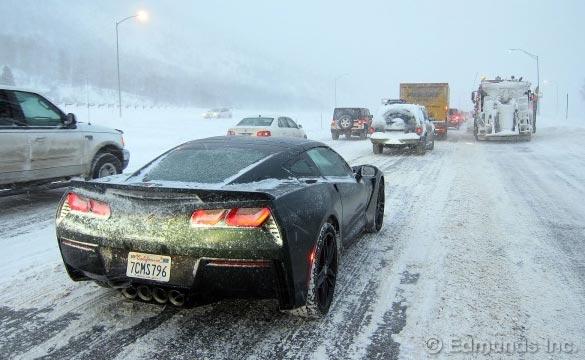 Edmunds.com Editor Recounts Harrowing Tale of Driving a 2014 Corvette Stingray in a Blizzard