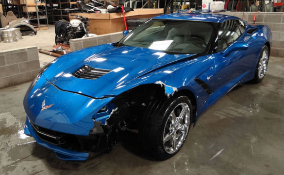 Wrecked 2014 Corvette Stingray on Ebay
