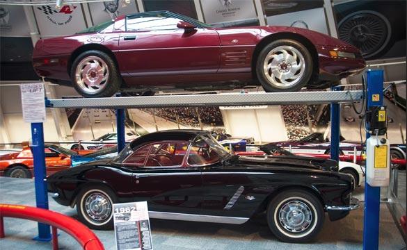 1962 Corvette and 1993 40th Anniversary Corvette