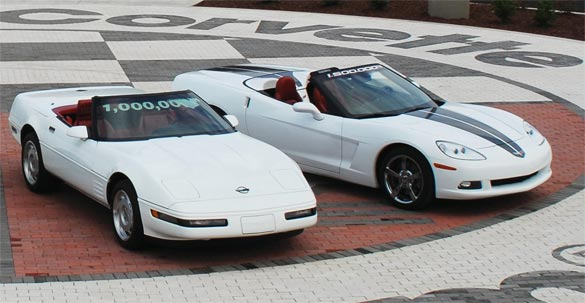 1992 Corvette - The One Millionth and 2009 Corvette - The 1.5 Millionth Corvette