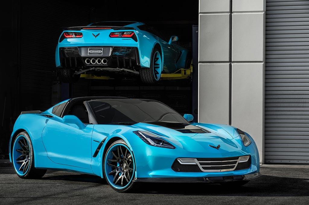 corvettes on ebay forgiato widebody c7 corvette stingrays - Corvette Stingray Light Blue