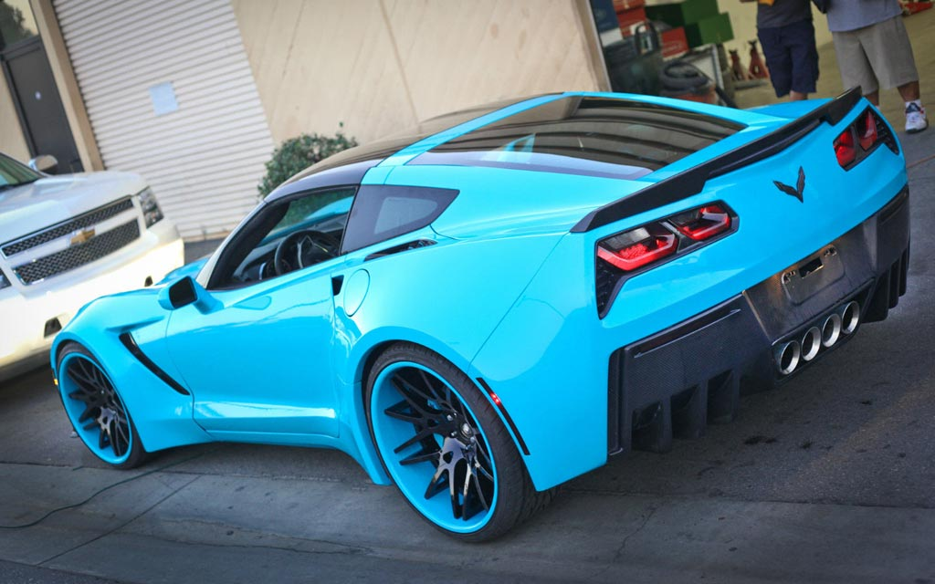 corvettes on ebay forgiato widebody c7 corvette stingrays - Corvette 2015 Stingray Blue