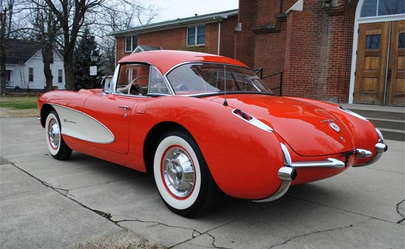 1957 Corvette Fuelie is Saint Bernard's Classic Corvette Raffle Grand Prize