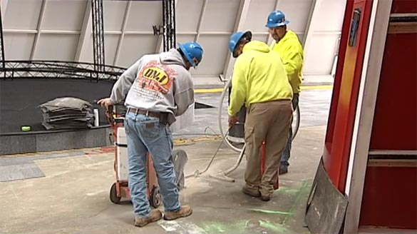 Work Begins to Repair the Sinkhole at the National Corvette Museum