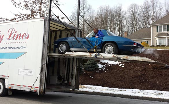 Todd Baggett's 1964 Corvette Delivered at his home in Michigan