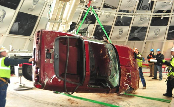 Corvette Museum Recovers the 1993 40th Anniversary Corvette from Sky Dome Sinkhole