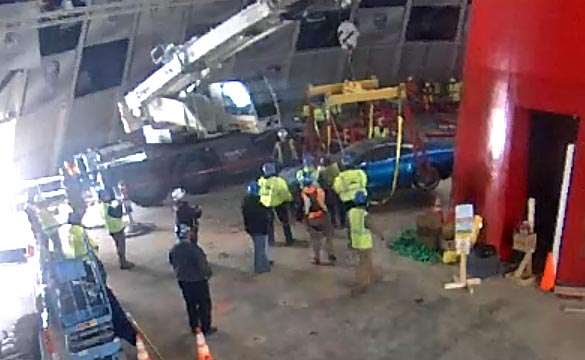 The First of Eight Corvettes is Rescued from the Corvette Museum's Sinkhole
