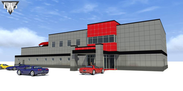 Corvette Museum's Motorsports Park Shows off Building Renders