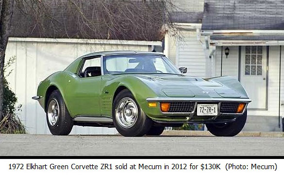 1972 Corvette ZR1 sold at Mecum in 2012 for $130K