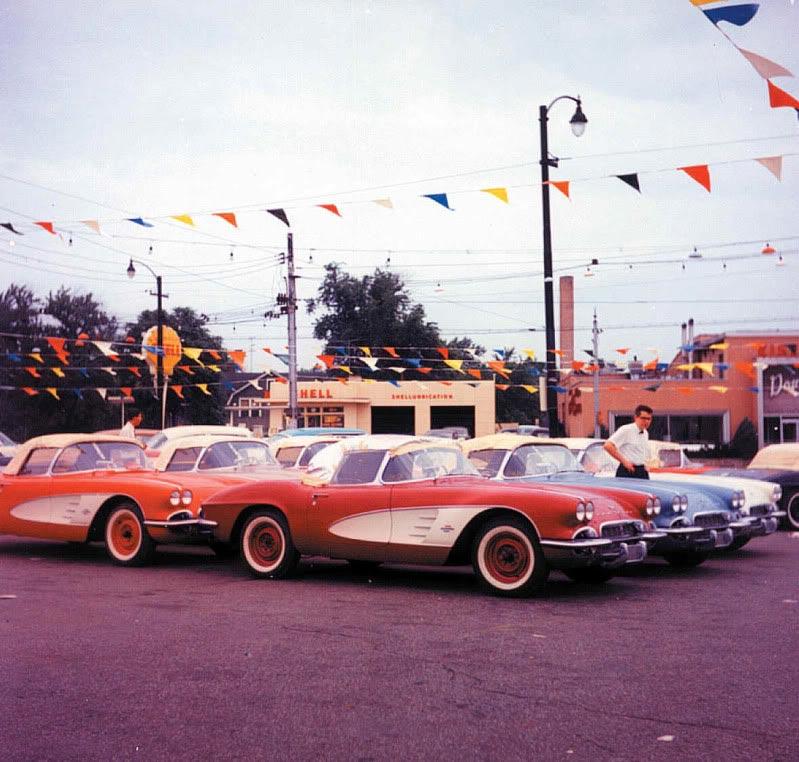 PIC] Throwback Thursday: Early Corvette Sales Lot - Corvette: Sales ...