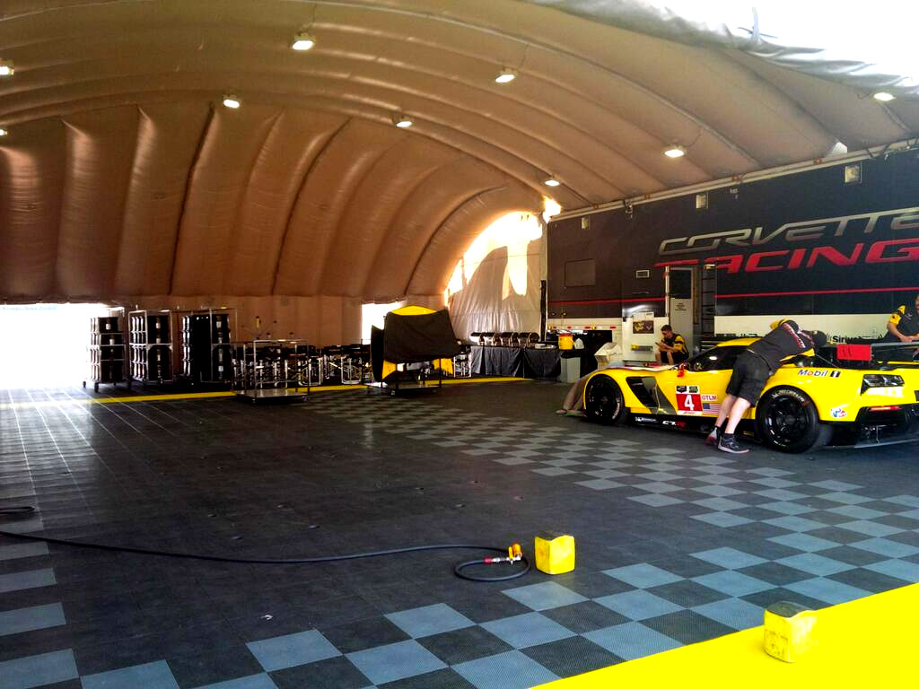 Inflatable Car Garage : Pics corvette racing s new track paddock garage is an