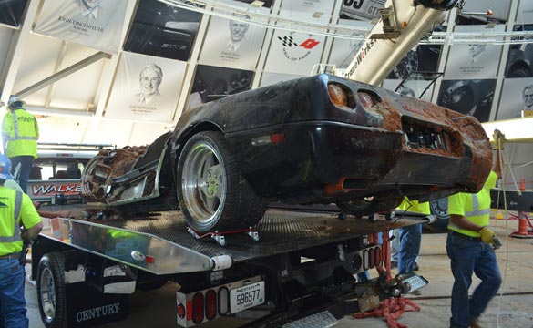 [VIDEO] Corvette Museum Retrieves the Corvette ZR-1 Spyder from the Sinkhole