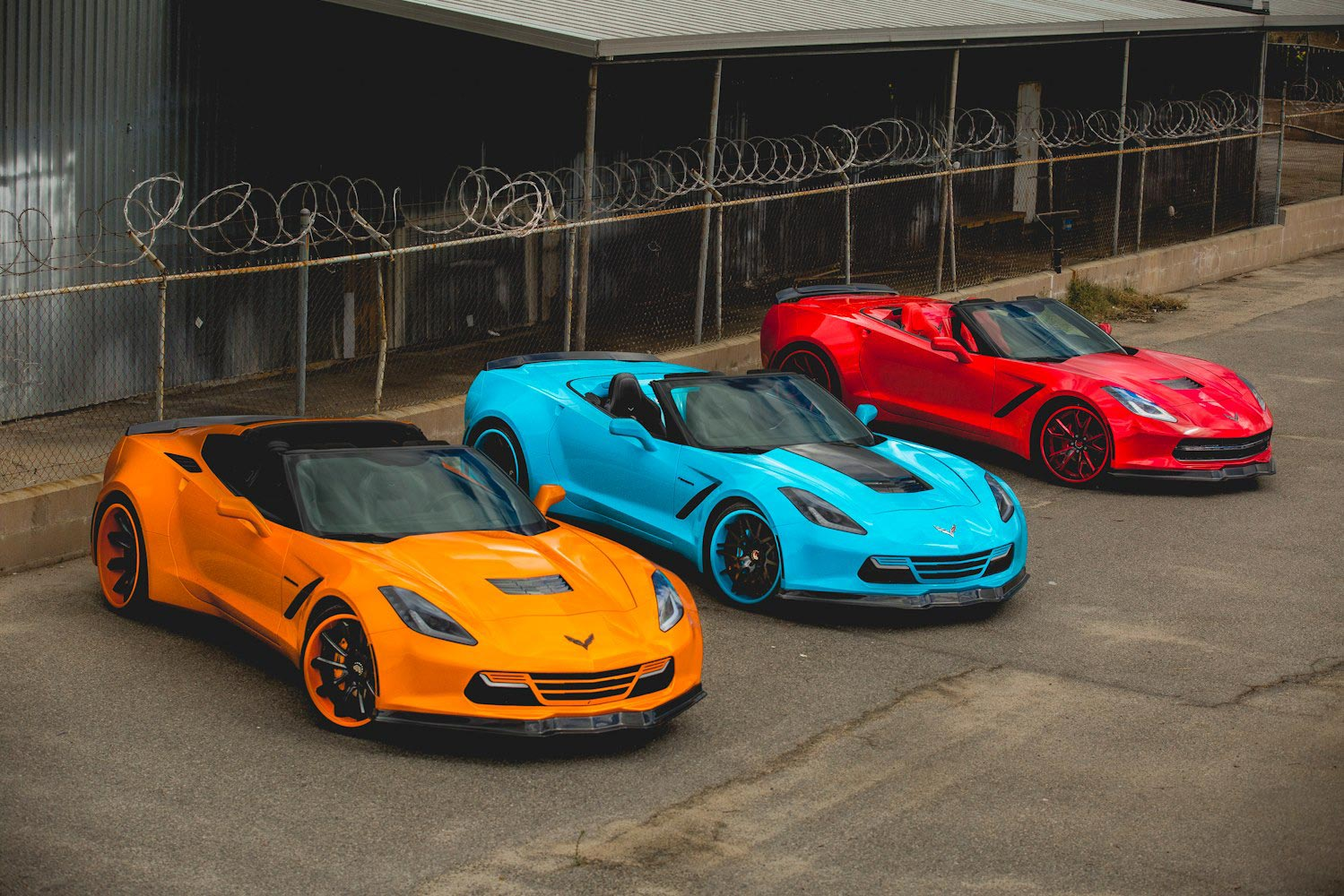 2014 Corvette Stingray Orange Forgiato widebody c7 corvetteCorvette Stingray 2014 Orange