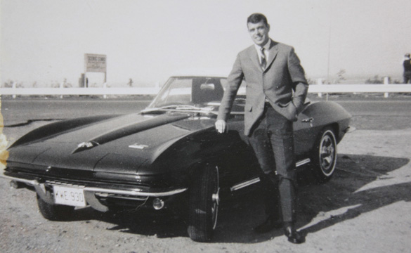 My dad with his new 1966 Corvette