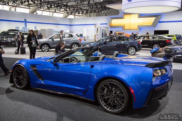 The 2015 Corvette Z06s at the New York Auto Show