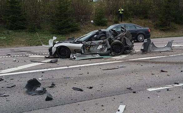 [ACCIDENT] High Speed Corvette Crash Causes Chain Reaction Wreck in Norway
