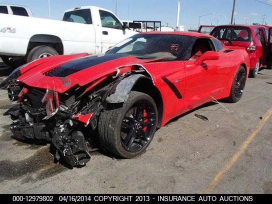 Insurance Auto Auction Salvage >> Save The Stingrays Damaged C7 Corvette Stingray With 293 Miles To