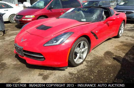 Drowned C7 Corvette Stingray To Be Sold at Auction