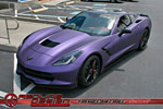 Corvette Stingray Gets a Matte Purple Metallic Wrap