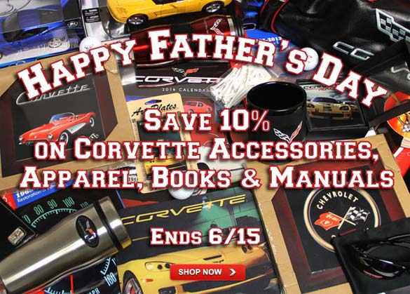 Save 10% on Corvette Accessories at Zip's Father's Day Sale