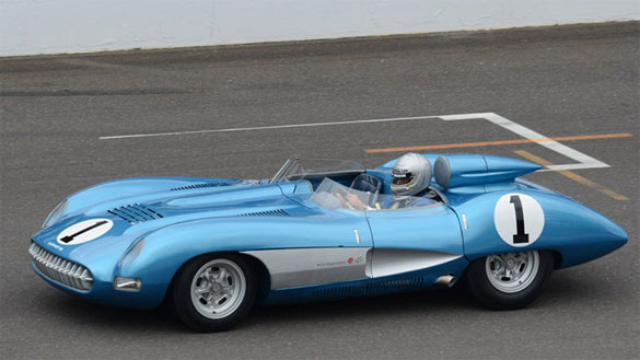 1957 Corvette SS Encounters Smoke at Indy's Brickyard Invitational