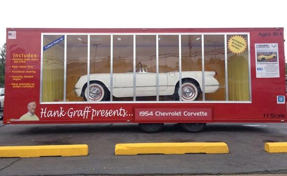 Son Gives Dad a life-sized 1954 Corvette in a Box for Retirement