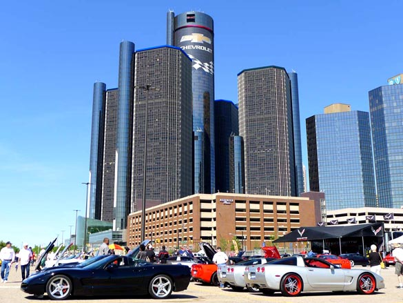 [PICS] Corvettes in the D Car Show at GM's Renaissance Center