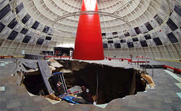 Corvette Museum's Board Opts to Keep Part of the Sky Dome Sinkhole Visible